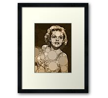 Bubble Art Judy Garland Framed Print