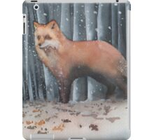 Red Fox in a Snowstorm iPad Case/Skin