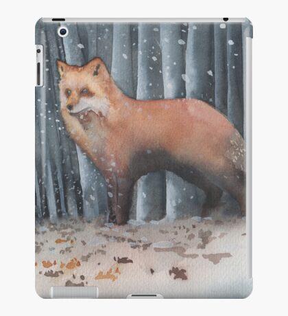 Red Fox in a Snowstorm iPad Case/Skin