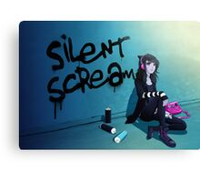 Zoe- Silent Scream Canvas Print