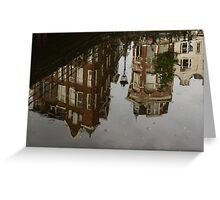 Amsterdam - Moody Canal Reflection in the Rain Greeting Card