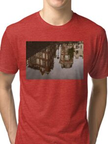 Amsterdam - Moody Canal Reflection in the Rain Tri-blend T-Shirt