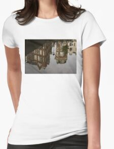 Amsterdam - Moody Canal Reflection in the Rain Womens Fitted T-Shirt