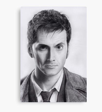 David Tennant Doctor Who No.10 Canvas Print