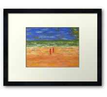 GOING FOR A SWIM Framed Print