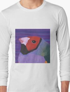 Gouldian Finch Portrait Long Sleeve T-Shirt