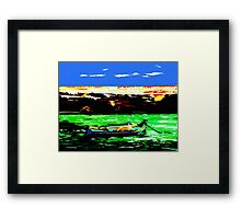 MALTESE FISHING BOAT Framed Print
