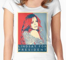 'Lindsay for President' T-Shirt Women's Fitted Scoop T-Shirt