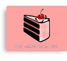 Portal, cake is a lie Canvas Print