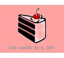 Portal, cake is a lie Photographic Print