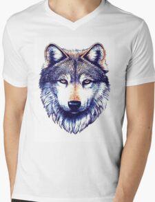 Dire Wolf Mens V-Neck T-Shirt