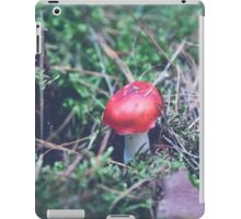 red mushroom in the forest iPad Case/Skin