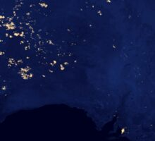Satellite view showing the night lights of Australia. Sticker