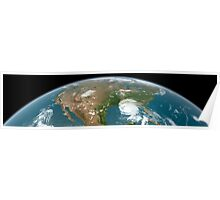 Panoramic view of planet Earth and the United States. Poster