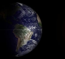 View of Earth at its equinox. by StocktrekImages