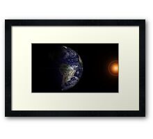 View of Earth at its equinox. Framed Print