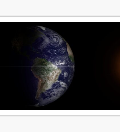 View of Earth at its equinox. Sticker