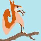 Salvadore Squirrel On His Branch by pinkyjainpan