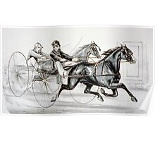 A hot race to the wire - Currier & Ives - 1887 Poster