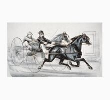 A hot race to the wire - Currier & Ives - 1887 Baby Tee