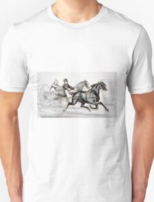 A hot race to the wire - Currier & Ives - 1887 T-Shirt