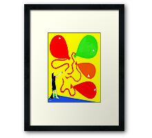 BIG BALLOON TIME Framed Print