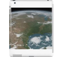 Panoramic view of planet Earth and the United States. iPad Case/Skin