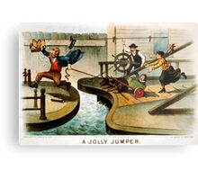 A jolly jumper - Currier & Ives - 1888 Metal Print