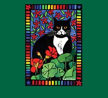 Black and White Cat in the Garden T-Shirt