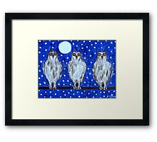 THE OWLS Framed Print