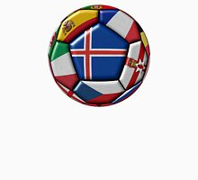 Soccer ball with flag of Iceland in the center Unisex T-Shirt