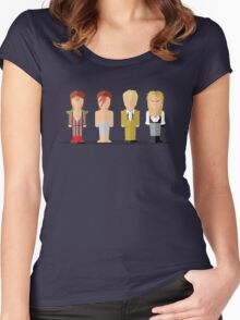 Best of David Bowie Women's Fitted Scoop T-Shirt