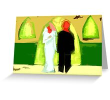 BLUSHING BRIDE AND GROOM 2 Greeting Card