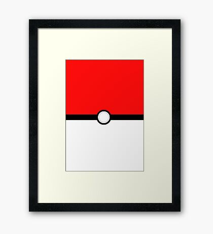 Poke Ball Framed Print