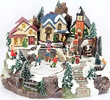 old town winter scene by goceris