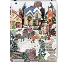 old town winter scene iPad Case/Skin