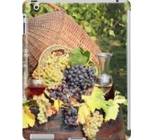 vineyard with grape and wine  iPad Case/Skin