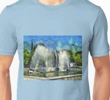 A digital painting of The Kinetic Fountain in  Drobeta Turnu Severin, Romania Unisex T-Shirt