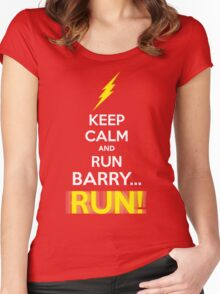 Keep Calm and RUN, BARRY... RUN! Women's Fitted Scoop T-Shirt