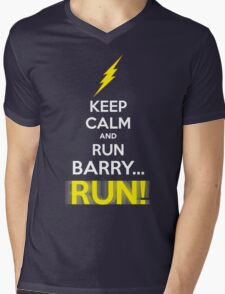 Keep Calm and RUN, BARRY... RUN! Mens V-Neck T-Shirt