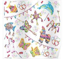 Piñata Party Birthday Celebration  Poster