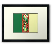 Hot red chili peppers Framed Print