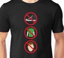 No Shoes, No Shirt, No Sheldon Unisex T-Shirt