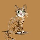 Brown Cat Illustration by Silvia Neto