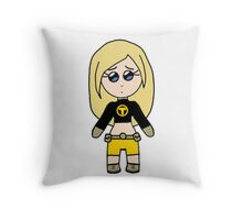 Chibi Terra - Teen Titans Throw Pillow