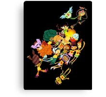 Whispering Rock Psychic Summer Camp Pals Canvas Print