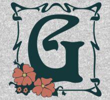 Fancy art nouveau letter G, flower One Piece - Long Sleeve