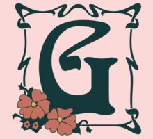 Fancy art nouveau letter G, flower Baby Tee