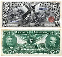 $5 (Five Dollar Bill) Silver Certificate Series of 1896 by allhistory