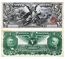$5 (Five Dollar Bill) Silver Certificate Series of 1896 Photographic Print